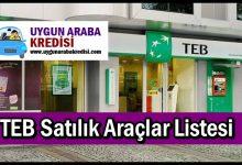TEB Satılık Araçlar Listesi