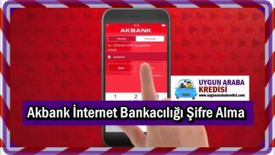 Akbank İnternet Bankacılığı Şifre Alma