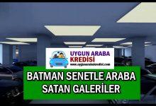 Batman Senetle Araba Veren Yerler