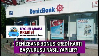 Denizbank Bonus Kredi Kartı Başvurusu