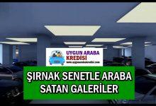 Şırnak Senetle Araba Satan Galeriler