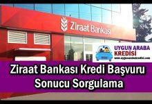 Ziraat Bankası Kredi Başvuru Sonucu Sorgulama
