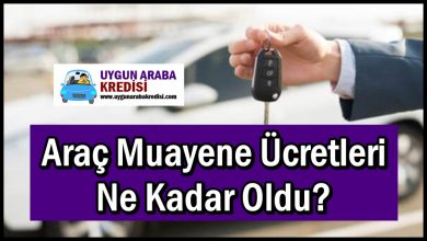 Araç Muayene Ücretleri Ne Kadar Oldu?
