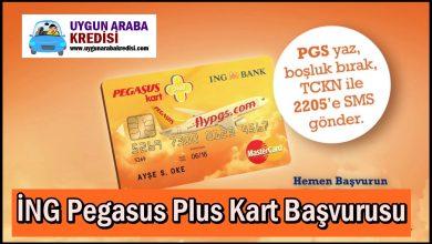 İNG Pegasus Plus Kart Başvurusu