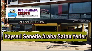 Kayseri Senetle Araba Satan Yerler