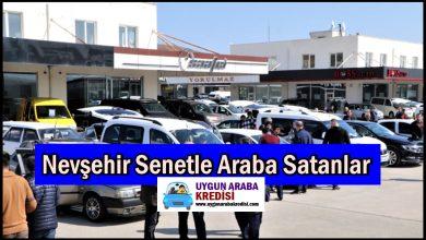 Nevşehir Senetle Araba Satanlar